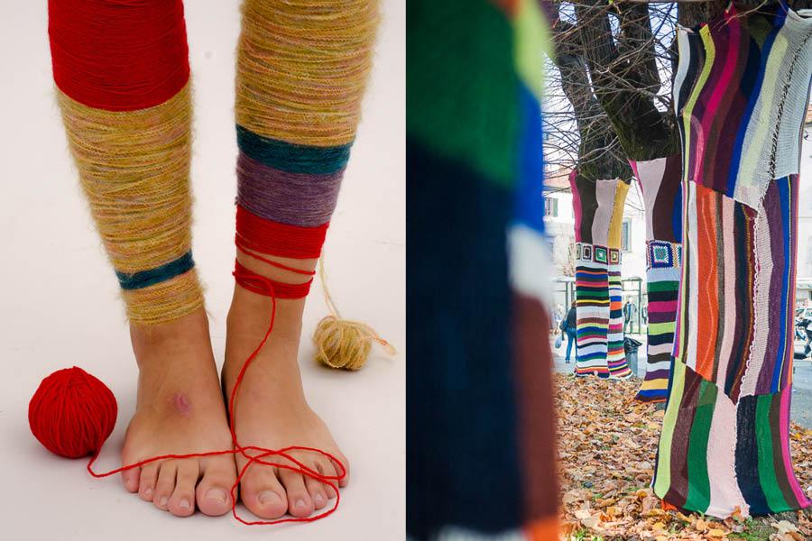 yarn bombing in Pistoia