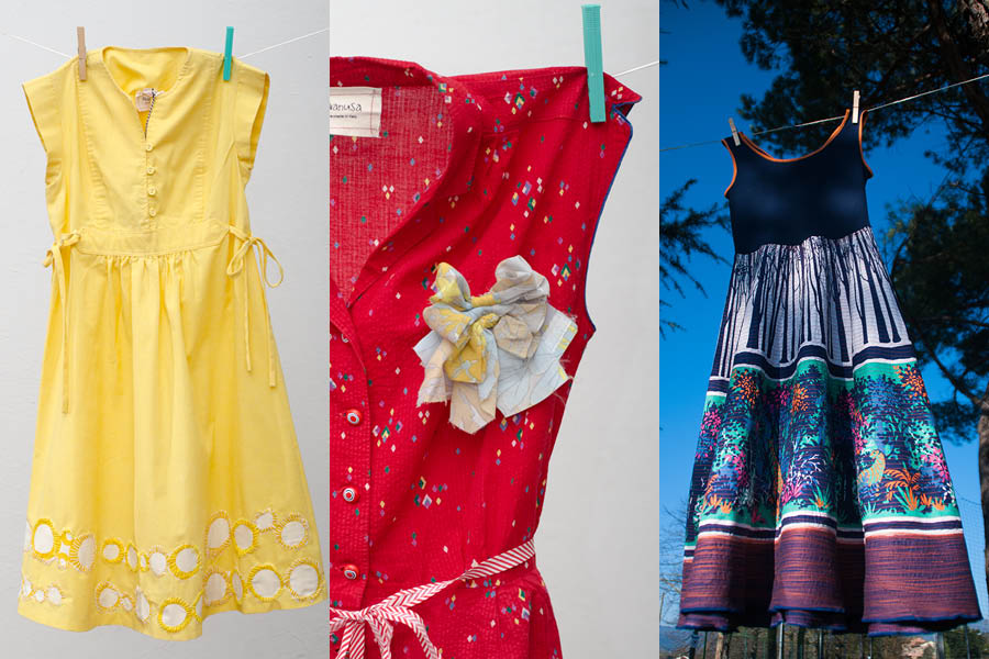 upcycling of vintage dresses